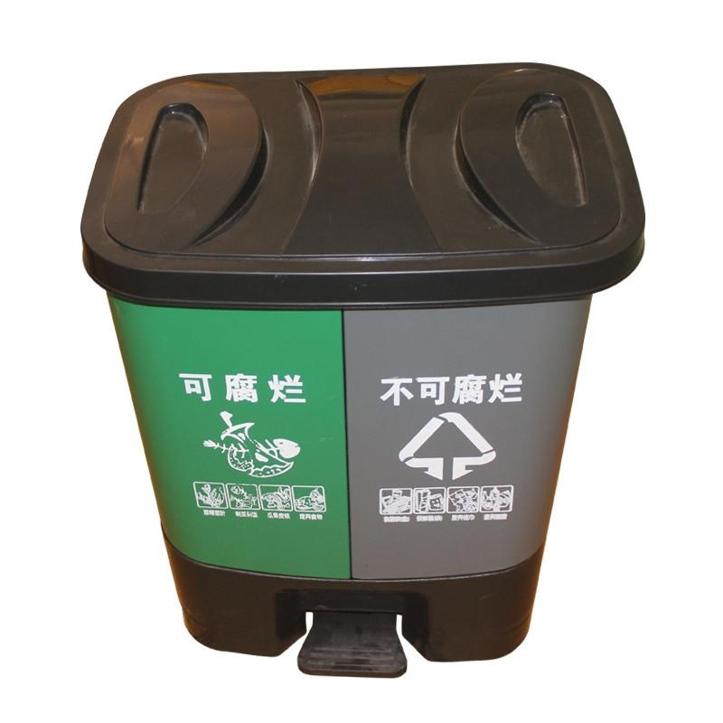 双桶环卫垃圾桶(可腐烂 / 不可腐烂)