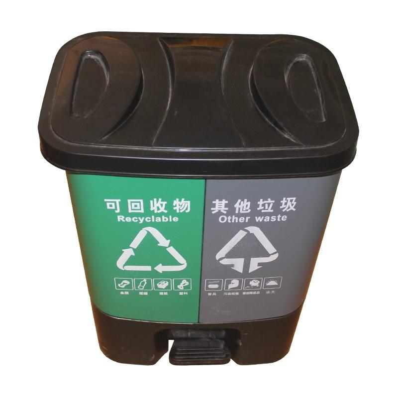 双桶环卫垃圾桶(可回收物 / 其他垃圾)